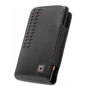 Motorola Droid RAZR Black Bergamo Leather Case