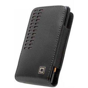 Motorola Droid RAZR Black Bergamo Leather Case